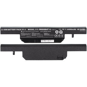 Аккумулятор / 11,1V / 4400mAh / 48Wh черный Clevo W650SR