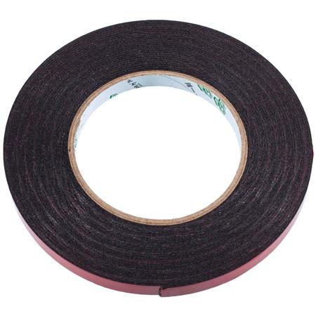 Скотч двусторонний KONILL (поролоновый) 10mm 10m черный (1 mm)