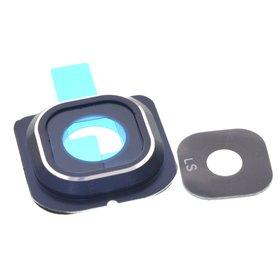 Стекло камеры для Samsung Galaxy S6 edge (SM-G925F) черный с рамкой