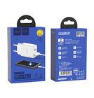 Зарядка USBх2 / 5V 2,1A + кабель type-c белый для LG G5 H850