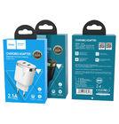 Зарядка USBх2 / 5V 2,1A белый для LG KE590