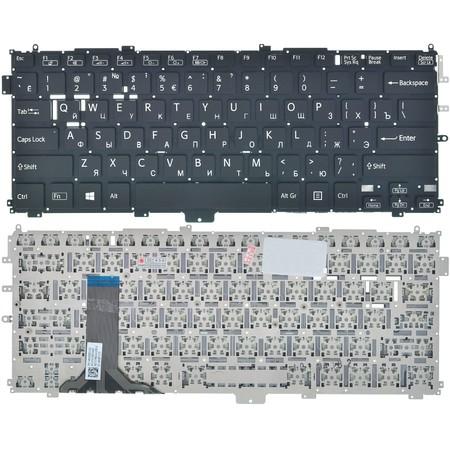 Клавиатура черная без рамки для Sony Vaio SVP1322M9R