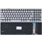 Клавиатура для Asus N551 серебристая с подсветкой