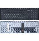 Клавиатура для Clevo W970KLQ с черной рамкой (Горизонтальный Enter)