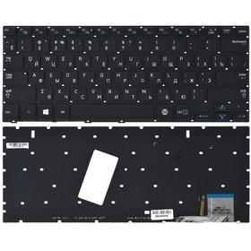 Клавиатура для Samsung NP730U3E черная с подсветкой
