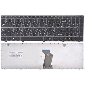 Клавиатура для Lenovo G580 черная с серой рамкой