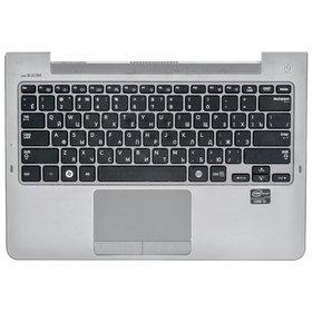 Клавиатура для Samsung NP530U3C черная (Топкейс серебристый)