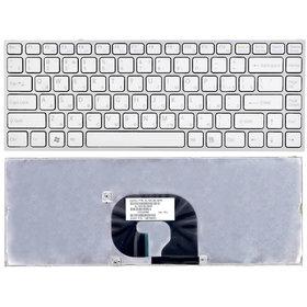 Клавиатура для Sony VAIO VPCY белая с серебристой рамкой