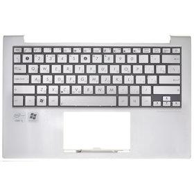 Клавиатура для ASUS UX21E ZENBOOK серебристая (Топкейс серебристый)