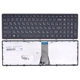 Клавиатура для Lenovo G505s черная с черной рамкой