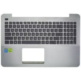 Клавиатура для Asus X555 черная (Топкейс серый)