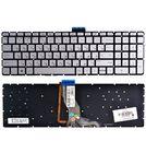 Клавиатура серебристая с подсветкой для HP Pavilion 15-ab261ur