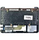Клавиатура для ASUS Chromebook Flip C100PA черная (Топкейс серебристый)