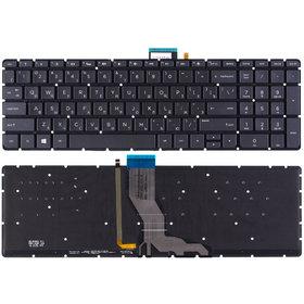 Клавиатура для HP Pavilion 15-ab черная с подсветкой