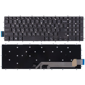 Клавиатура для Dell Inspiron 15 Gaming 7566 (P65F) черная без рамки