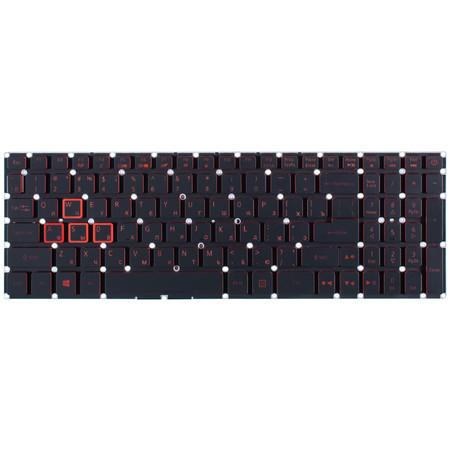 Клавиатура для Acer Nitro 5 AN515-51 черная с подсветкой