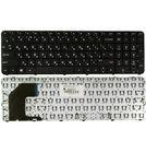 Клавиатура черная с черной рамкой для HP Pavilion Ultrabook 15-b000