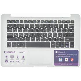 Клавиатура для IRBIS NB105 черная (Топкейс белый)