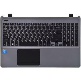 Клавиатура для Acer Aspire E1-532 черная (Топкейс серый)