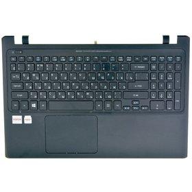 Клавиатура для Acer Aspire V5-551G черная с подсветкой (Топкейс черный)