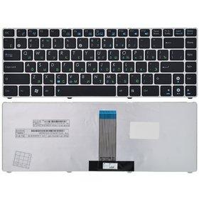 Клавиатура для Asus U20 черная с серебристой рамкой