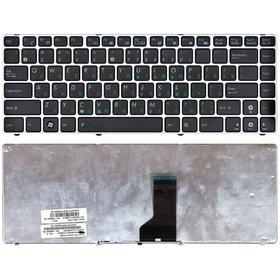 Клавиатура черная с серебристой рамкой Asus N43SN