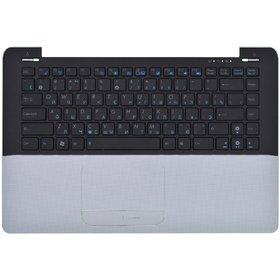 Клавиатура для Asus UX30 черная (Топкейс серебристый)