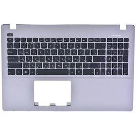 Клавиатура черная (Топкейс серебристый) Asus X550ZA