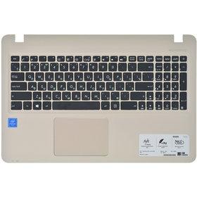 0KNB0-610TRU00 Клавиатура черная (Топкейс бронзовый)