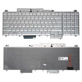 Клавиатура для Dell Inspiron 1721 (PP22X) серебристая с подсветкой