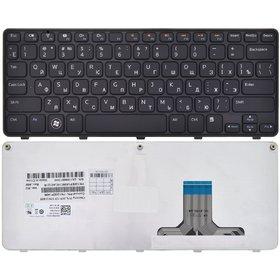 Клавиатура для Dell Inspiron Mini Duo (1090) черная с черной рамкой