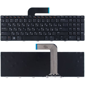 Клавиатура для Dell Inspiron 15R (N5110) черная с черной рамкой