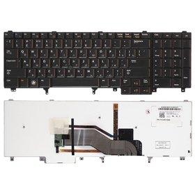 Клавиатура для Dell Latitude E5520 черная с подсветкой (Управление мышью)