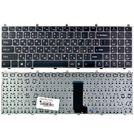 Клавиатура для Clevo W650SR черная с серой рамкой