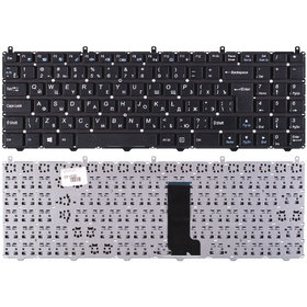 Клавиатура черная без рамки Clevo W650SR