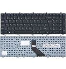 Клавиатура для Clevo W370ET черная без рамки