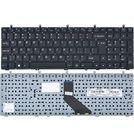 Клавиатура Clevo W370ET черная без рамки