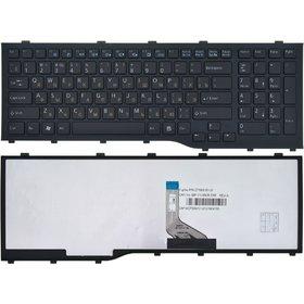 Клавиатура для Fujitsu Siemens Lifebook A532 черная с черной рамкой