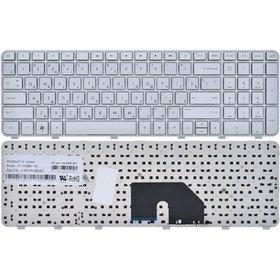 Клавиатура для HP Pavilion dv6-6000 серебристая с серебристой рамкой
