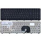 Клавиатура для HP Pavilion dv7-6000 черная с черной рамкой