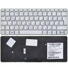 Клавиатура серебристая с серебристой рамкой для HP Mini 1103