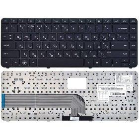 Клавиатура для HP Pavilion dv4-5000 черная с черной рамкой
