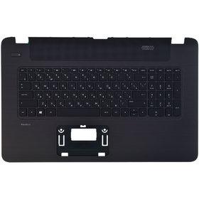 Клавиатура для HP Pavilion 17-f черная (Топкейс черный)