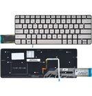 Клавиатура серебристая без рамки для HP Spectre 13 X2 Pro