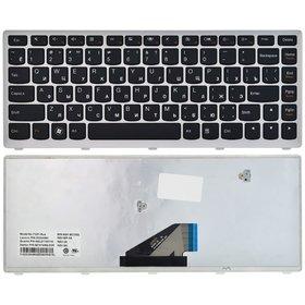Клавиатура для Lenovo IdeaPad U310 черная с серебристой рамкой