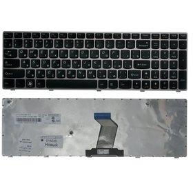 Клавиатура для Lenovo B590 черная с серой рамкой