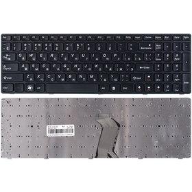 Клавиатура черная с черной рамкой Lenovo IdeaPad Z565
