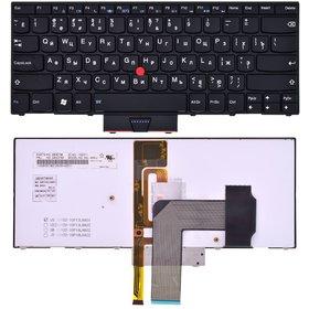 Клавиатура для Lenovo ThinkPad X1 Hybrid (Type 1294) черная с черной рамкой с подсветкой (Управление мышью)
