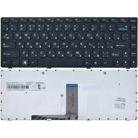 Клавиатура для Lenovo G470 черная с черной рамкой