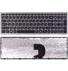 Клавиатура для Lenovo IdeaPad Z500 черная с серой рамкой